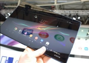 Sonys Top-Tablet Xperia Tablet Z in der Frontansicht.