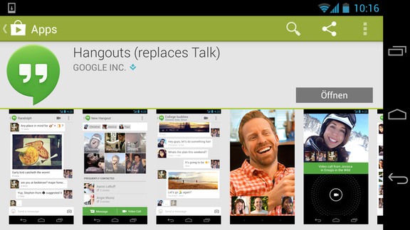 google i o 2013 aus google talk wird hangouts android user. Black Bedroom Furniture Sets. Home Design Ideas