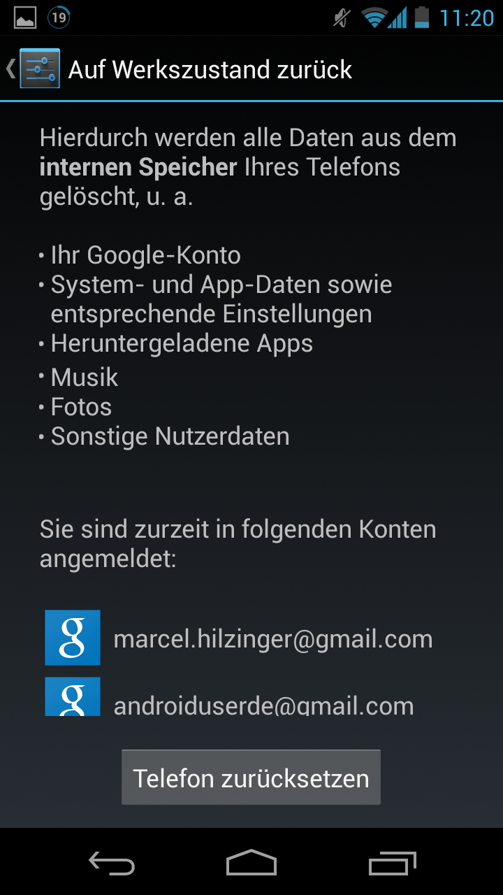 falsches outlook konto im playstore