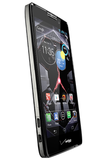 how to get capitals on a moto razr phone