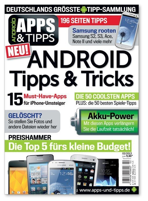 Android Apps&Tipps: Neues Android-Magazin im Kompaktformat von Android User