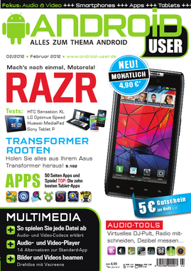 Android User 02/2012 jetzt am Kiosk!