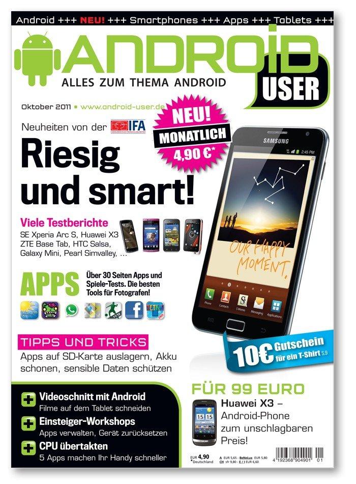 Android User: Oktober-Ausgabe jetzt am Kiosk