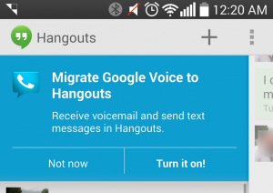 In den USA hat Google mit der Integration von Google Voice in Hangouts begonnen. Bild: androidpolice.com