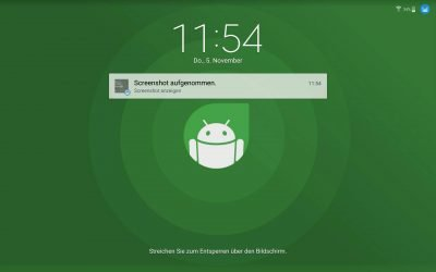 Der neue Lockscreen des Galaxy Note 10.1 (2014 Edition)...