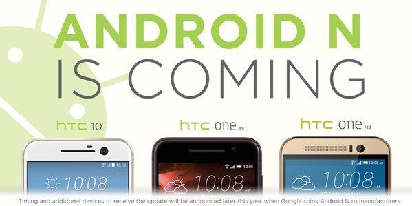 HTC bestätigt Update auf Android N für HTC 10, HTC One A9 und HTC One M9