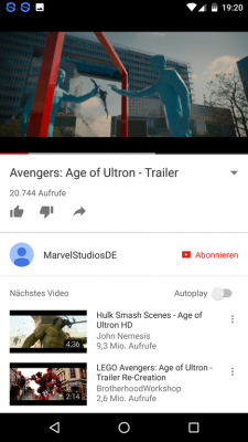 Über den You-Tube-Button schaust du dir Film-Trailer an.