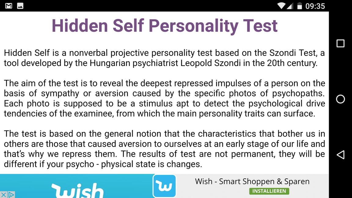 zwei persönlichkeiten test