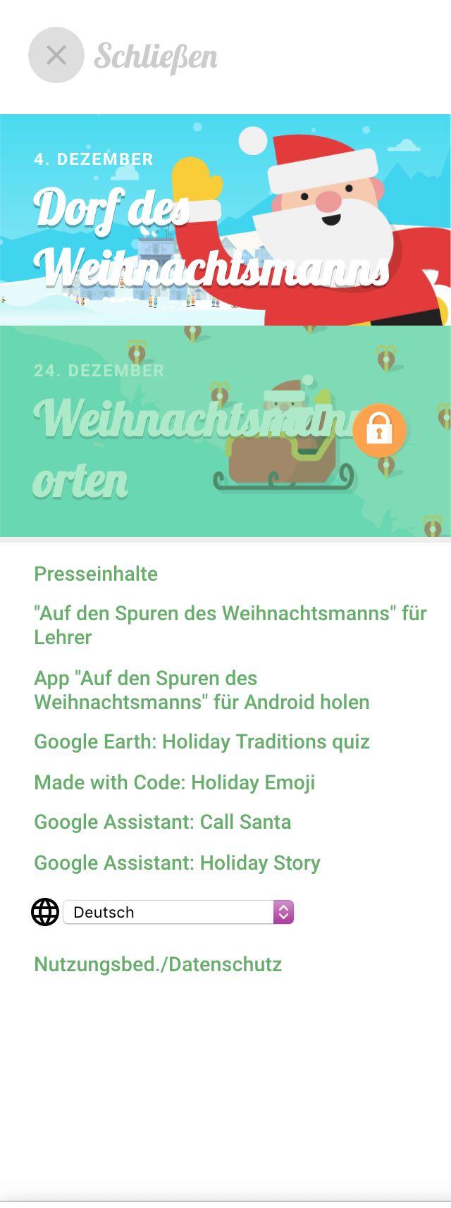 Weihnachtskalender Google.Google Santa Tracker Der Virtuelle Adventskalender Ist Wieder