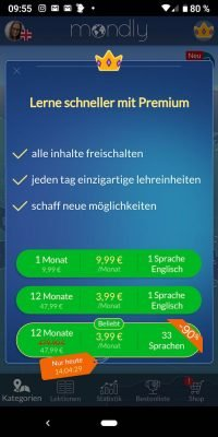Sprachen Mondly Languages 7 | Android-User.de