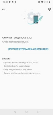 OnePlus 6T 8 Update | Android-User.de
