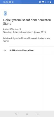 OnePlus 6T 9 Sicherheitsupdateversion | Android-User.de