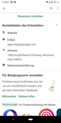 Android Beta 1 | Android-User.de