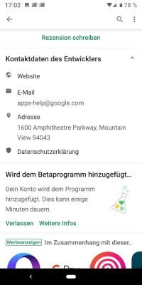 Android Beta 2 | Android-User.de