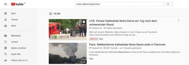 YouTube Notre Dame | Android-User.de
