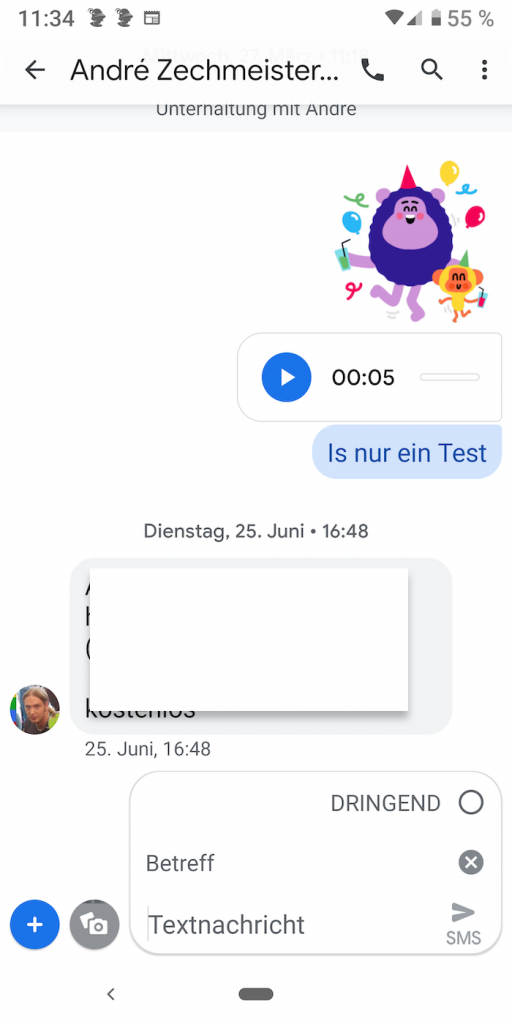 Messages 1 | Android-User.de