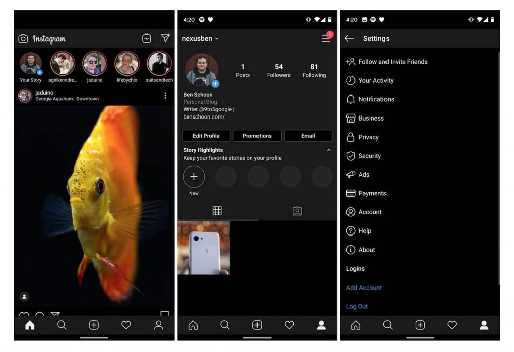 Dark Mode Insta | Android-User.de