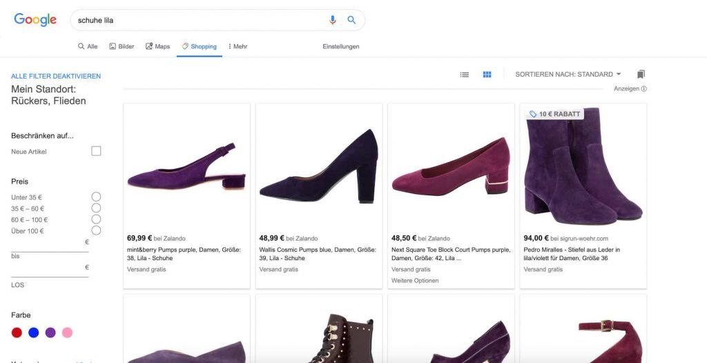 Google Suche Tab Shopping | Android-User.de