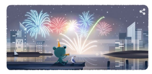 Doodle Silvester | Android-USer.de