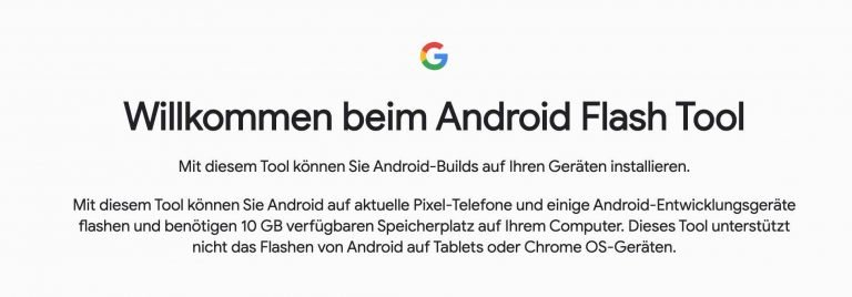 Android Flash Tool – Per Browser AOSP-Builds auf Pixel 2-4 flashen