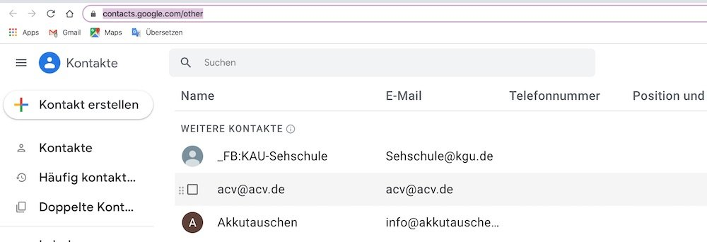 Contacts 2 |ANdroid-User.de