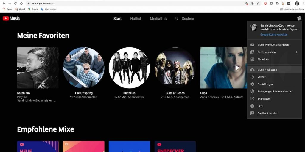 YouTube Music Upload |Android-User.de