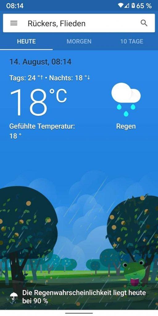 Google Wie Wird Das Wetter Heute