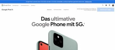Pixel 5 Sold out | Android-User.de