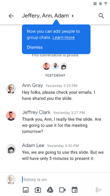 Add people to group chats |Android-User.de