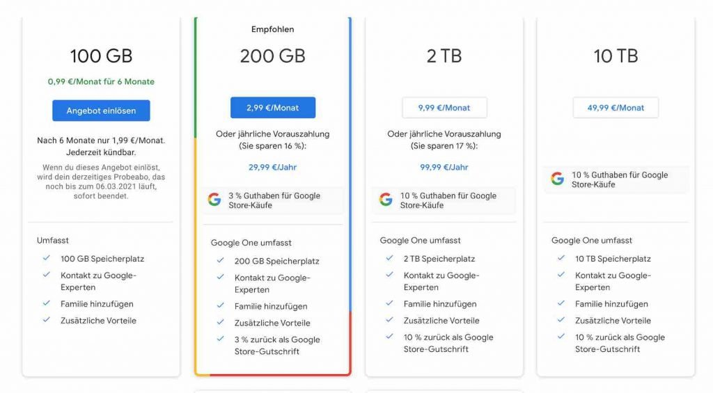 Google One Abo 1 | Android-User.de