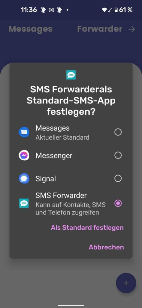 20210909 SMS Forwarder | Android-User.de1