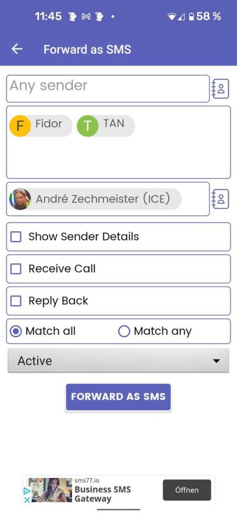 20210909 SMS Forwarder | Android-User.de3