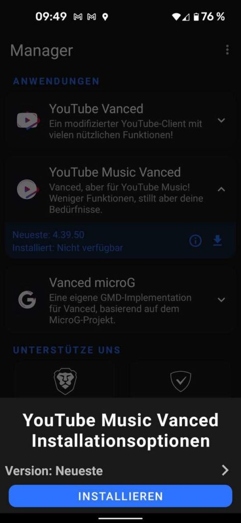 20211006 YouTube Music Vanced   Android-User.de5