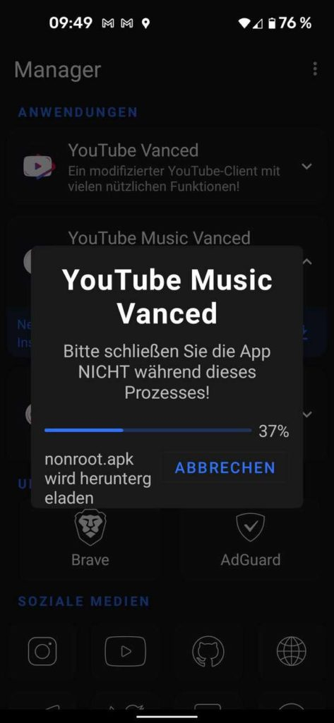 20211006 YouTube Music Vanced   Android-User.de6